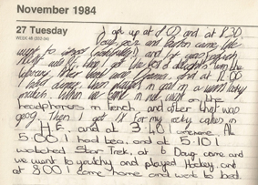 diary entry for 1984 Winston's journal entry here is a journal entry from winston smith, dating from january 16, 1985:  january 16 world of 1984 julia the message of 1984 similarities of injustices: our world and 1984 social injustices in 1984 oceania-- a dystopian society.